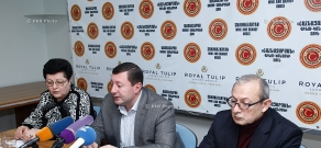 Press conference of Karapet Ohanyan, Sofi Asatryan and Murad Sargsyan