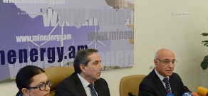 Press conference of Deputy Ministers of Energy of Armenia Areg Galstyan and Iosif Isayan