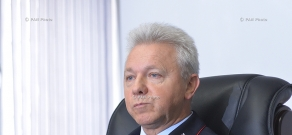 Press conference of General Director of the South Caucasus Railway CJSC Viktor Rebets