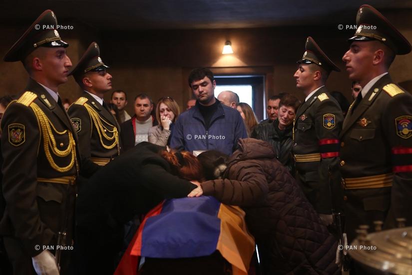 Captain Armenak Urfanyan's memorial service at Saint John the Baptist Church, who was killed in the course of military operations during Karabakh-Azerbaijan 4-day war