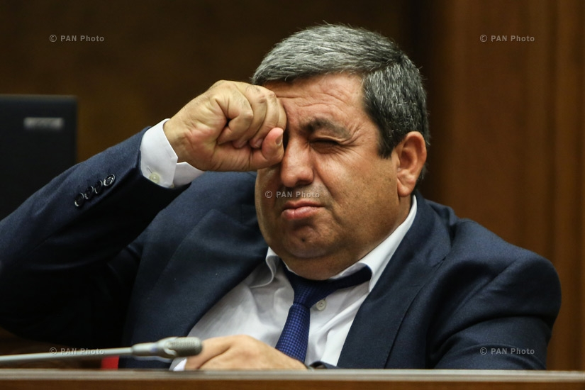 Deputy from RPA Arakel Movsisyan during four-day session of the Armenian National Assembly