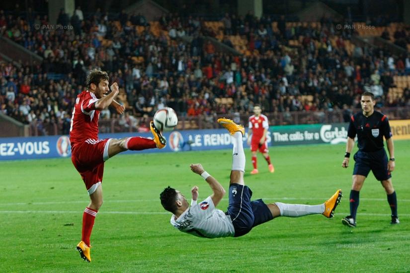 Friendly soccer match between Armenia and France. Yerevan, Armenia