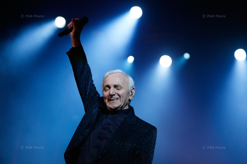 Concert of Charles Aznavour in Yerevan, Armenia