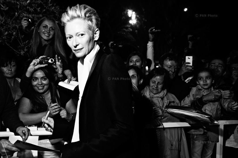 British actress Tilda Swinton at 65th Festival De Cannes