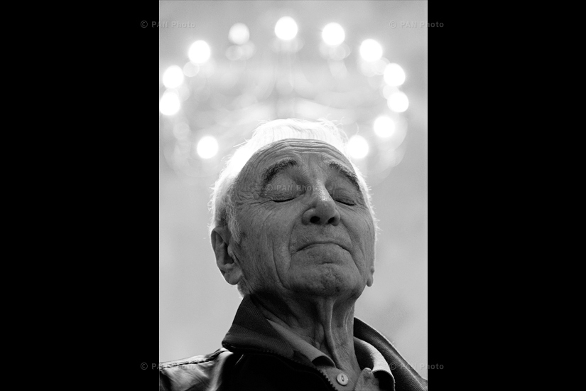 Charles Aznavour at Mother See of Holy Etchmiadzin, Armenia