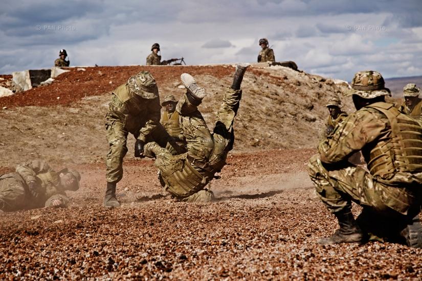 Military members during Response 2013 drills in Armavir, Armenia