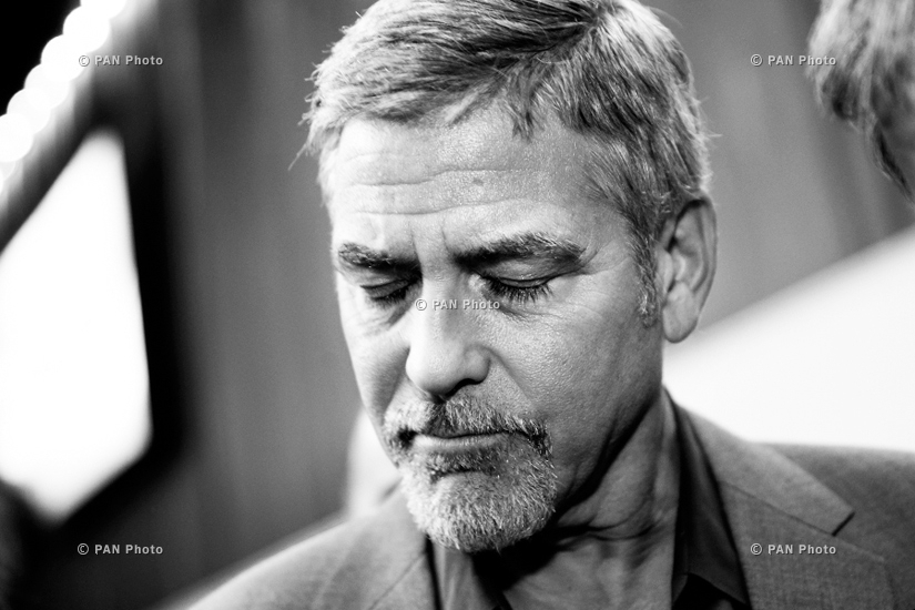 George Clooney before 2nd Global Forum 'Against the Crime of Genocide' in Yerevan, Armenia