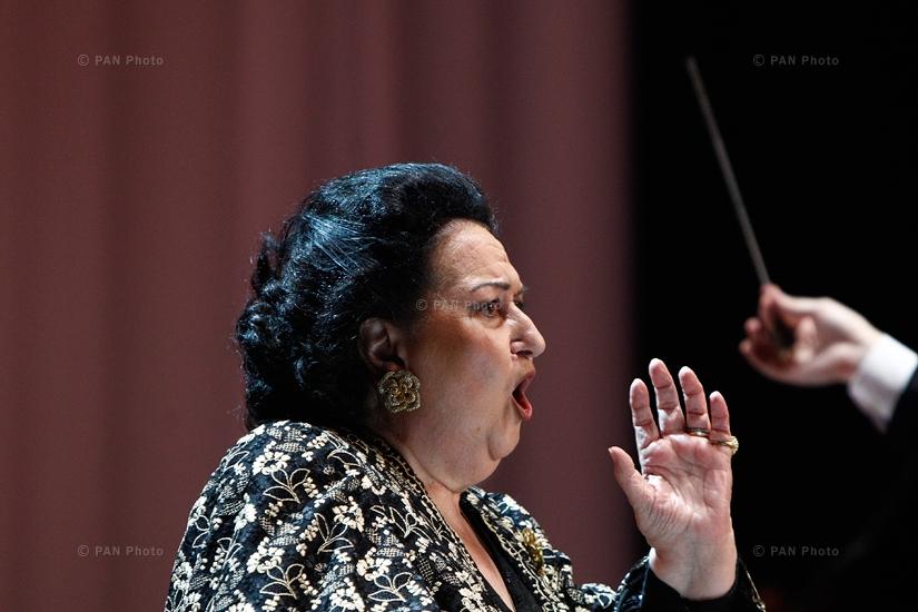 Concert of Spanish opera singer Montserrat Caballé in Yerevan, Armenia