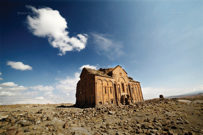 The Armenian city of a thousand and one churches, Ani. This was the capital of the Bagratuni kingdom and once the largest city in the region, with its scattered churches and other buildings. Today, it is finally open to tourists. Guides present it as a ci