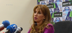Press conference of Heritage party's parliamentary group member Zaruhi Postanjyan