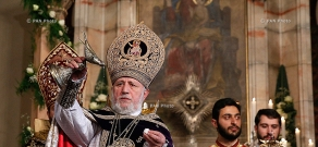 Christmas Liturgy serving ceremony in Mother See of Holy Etchmiadzin