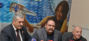 Press conference of head of Artsakh War Veterans' Union NGO chairman Yura Mikaelayan and vice-chairman Aragats Mkrtchyan