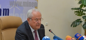 Press conferense of Armenia's Minister of Energy and Natural Resources Yervand Zakharyan