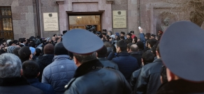 Protest in Gyumri with demand to pass Avetisyan family murderer to the Armenian side