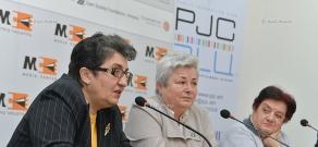 Press conference of ethnographer Hranush Kharatyan, artist Zaruhi Muradyan and head of the Association for Human Sustainable Development  Karine Danielyan
