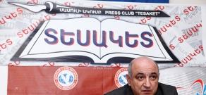 Press conference of Yerevan press Club's President Boris Navasardyan