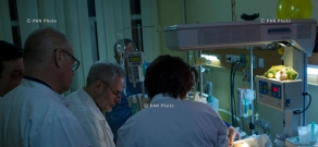 Russian doctors, accompanied by Armenian specialists visit six-month-old Seryozha Avetisyan