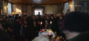 Funeral of six-month-old Seryozha Avetisyan in Gyumri
