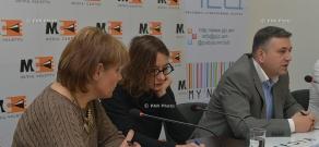 Press conference of Vardan Petrosyan lawyers  Marie Dose and Nikolay Baghdasaryan