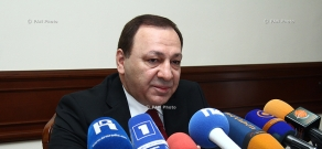 Press conference of chairman of the State Committee of Real Estate Cadastre Martin Sargsyan