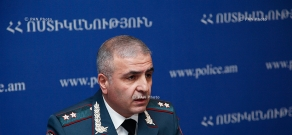 Press conference of senior deputy chief of Armenian Police, Major General Hunan Poghosyan