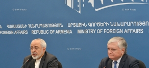 Joint press conference of Armenian Foreign Minister Edward Nalbandyan and Minister of Foreign Affairs of Iran Mohammad Javad Zarif