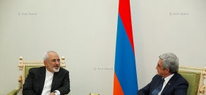 Armenian President Serzh Sargsyan receives Minister of Foreign Affairs of Iran Mohammad Javad Zarif