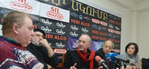Press conference of Meruzhan Ter-Gulanyan, Edvard Militonyan, Gevorg Yaghjyan and Vahan Artsruni