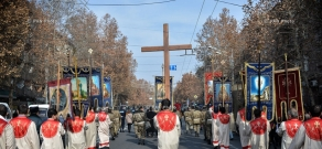 Religious procession dedicated to  St.Sargis holiday