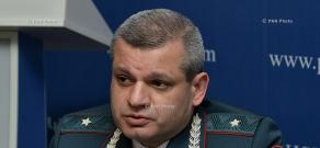 Press conference of Artak Harutyunyan,  Head of the RA Traffic Police, Major-General