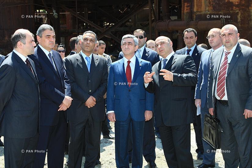 ՀՀ նախագահ Սերժ Սարգսյանի այցը «Նաիրիտ» գործարան տեղի ունեցած պայթյունիից հետո