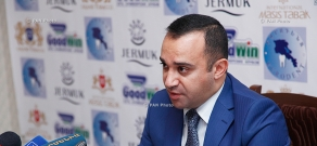 Press conference of Artak Mangasaryan, head of the Employment Agency at the RA Ministry of Labor and Social Issues