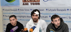 Press conference of journalists, exposed to violence on the border of Artsakh and Armenia
