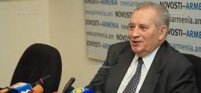 Press conference of ex-Co-Chair of MG OSCE (Russia) Vladimir Kazimirov