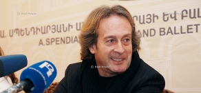 Press conference of Italian pianist Antonio Consales