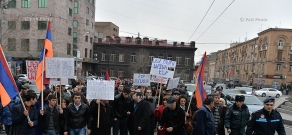 Protest against the abduction of Prosperous Armenia Party member Artak Khachatryan