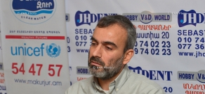 Press conference of Jirayr Sefilian