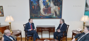 RA Foreign Minister Edward Nalbandyan receives newly appointed US Ambassador to Armenia Richard Mills