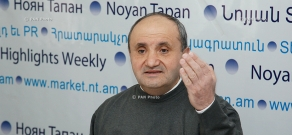 Press conference of Karabakh committee member Ashot Manucharyan