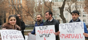 Protest action with demand to pass Avetisyan family murderer to