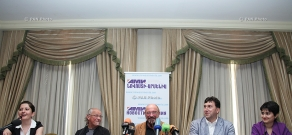 Press conference of Jethro Tull British rock group and Ian Anderson