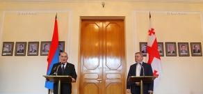 Joint press conference of Speaker of the Parliament of Georgia David Usupashvili and  speaker of the Armenian parliament Galust Sahakyan