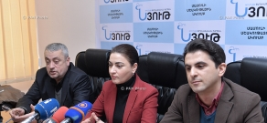 Press conference of Ruzan Tonoyan, Mkrtich Karapetyan and Emin Mkrtchyan