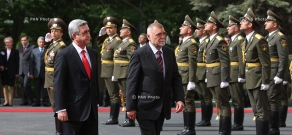 Welcoming ceremony for President of Croatia Stjepan Mesić