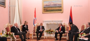 Meeting of President of Croatia Stjepan Mesić and Armenian President Serzh Sargsyan and negotiations between delegations