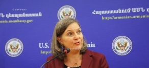 Press conference of U.S. Assistant Secretary for European and Eurasian Affairs Victoria Nuland