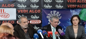 Press conference of head of Composers' Union of Armenia Aram Satyan and sculptor Ferdinand Arakelyan