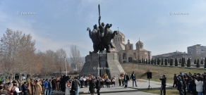 Wreath-laying ceremony dedicated to 150th birth anniversary of General Andranik Ozanyan