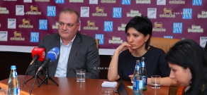 Press conference of specialist of political technologies Vigen Hakobyan