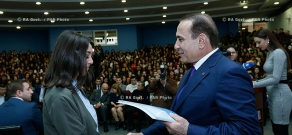 RA Govt.: Ceremony of summing up results of the competition by the Armenian Youth Foundation